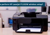 HP Laserjet P1102W wireless setup